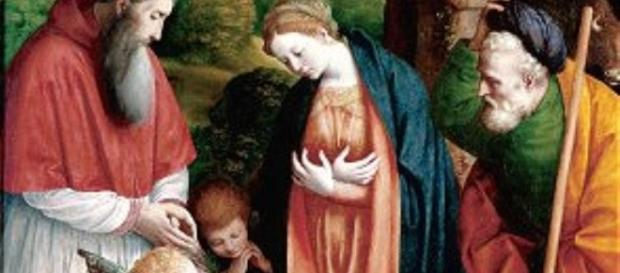 """The Holy Family With a Donor"" by Gaudenzio Ferrari.. FAIR USE pinterest.com Creative Commons"