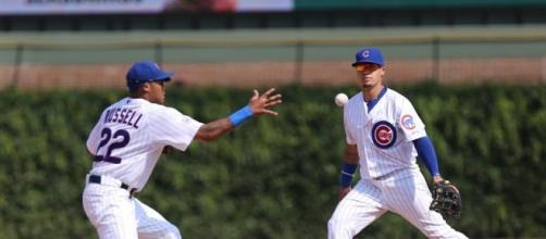 Addison Russell and Javy Baez. [Image via Flickr/Iowa Cubs]
