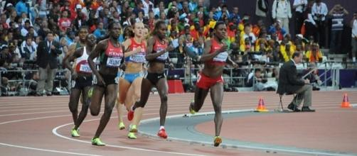 Alysia Montaño running at the 2012 Olympics (Image by Citizen59 via Wikimedia Commons.)
