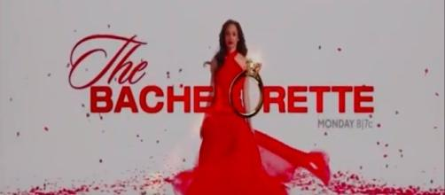 Bachelorette tv show logo image via a Youtube screenshot