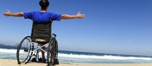 Disabile che si gode un attimo di tranquillità