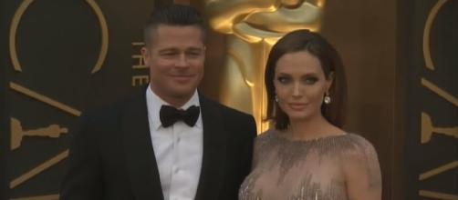 Estranged couple Brad Pitt and Angelina Jolie / Photo via CBS Miami , YouTube