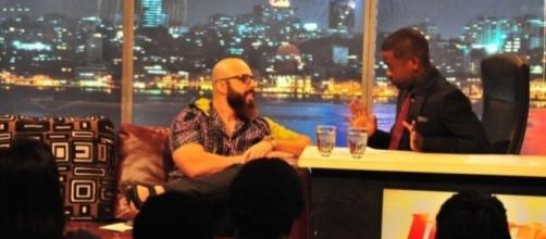 Fabiano de Abreu em entrevista na TV de Angola para o programa Hora Quente. (Foto: Luther King / MF Press Global)