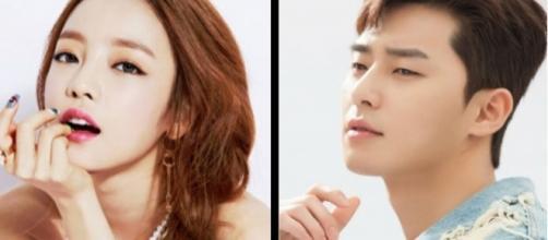 Goo Hara and Park Seo Joon (via KeyEast)