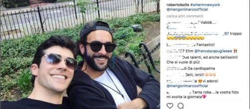 Marco Mengoni e Roberto Bolle: il selfie a New York che incuriosisce i fan
