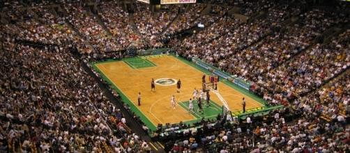 NBA Game in Boston (Wikimedia Commons - wikimedia.org)