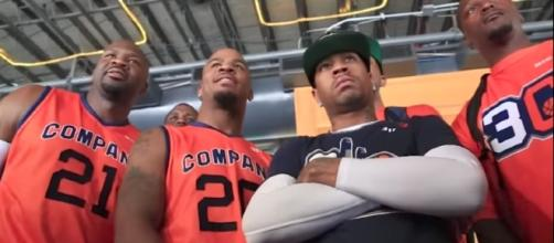 NBA Hall of Famer Allen Iverson is team captain for BIG3 League team 3's Company. [Image via BIG3/YouTube]