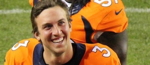Quarterback Trevor Siemian started 14 games for the Broncos last season -- Jeffrey Beall via WikiCommons