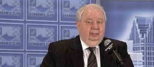 Sergey Kislak is returning to Moscow. Photo via Detroit Economic Club, YouTube.