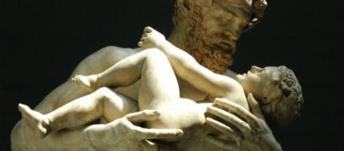 Sileno y el niño Dioniso. Copia de un original de Lisipo