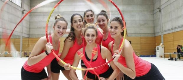 Chicas motivadas por la gimnasia rítmica.