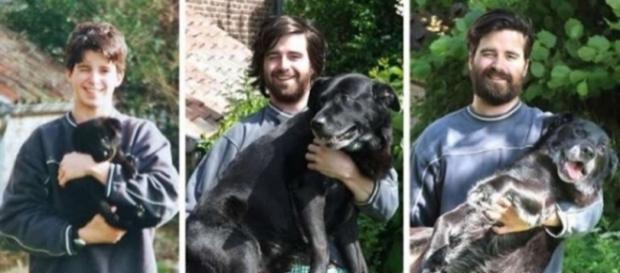 Fotos mostram como é crescer ao lado de um cão. Foto: Reprodução: Imgur.