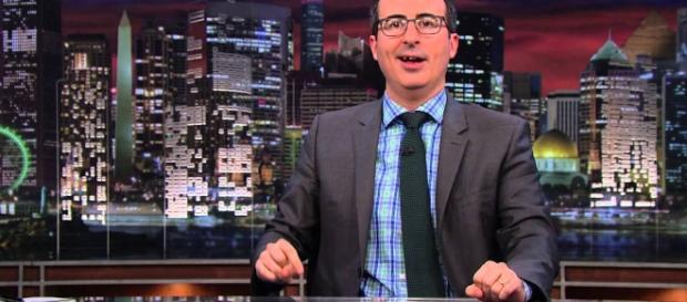 """John Oliver calls Trump's admission of no tapes of Comey conversation """"extraordinarily stupid."""" Photo via Last Week Tonight, YouTube."""