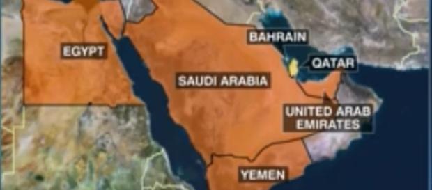Middle East Map - Qatar CNN Screenshot