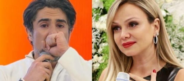 O apresentador Marcos Mion se emocionou ao falar sobre Eliana