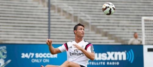Cristiano Ronaldo en un entrenamiento