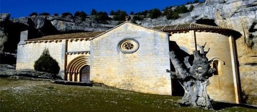 Ermita de San Bartolomé, en el Cañón del Río Lobos (Soria)