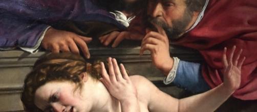 """Extracto de """"Susana y los viejos"""" (1610) realizado por Artemisia Gentileschi"""