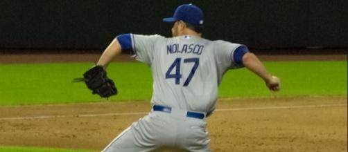 Nolasco in action, Wikimedia Commons/Ricky_Nolasco