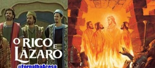 Sadraque, Mesaque e Abednego provam a sua fé na Fornalha Ardente