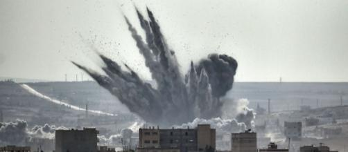 Shell explosion in Syria | Flickr Creative Commons