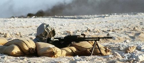 Syrian soldier - warning issued on possible chemical attack - (CC BY)