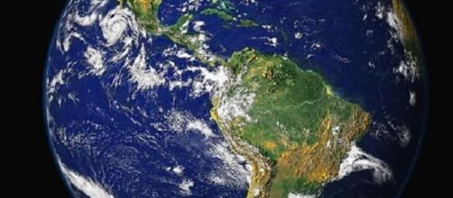 The Earth from space (Courtesy NASA)
