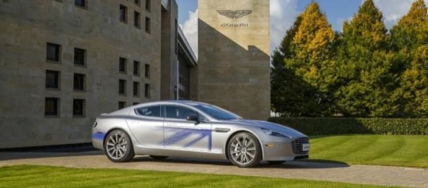 Aston Martin unveils electric concept RapidE during state visit - astonmartin.com