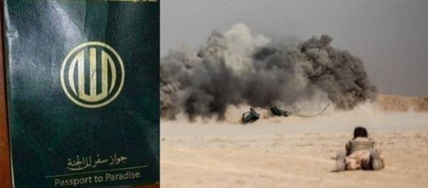 """ISIS eliberează militanților săi """"Pașapoarte către Paradis"""", pentru a-i convinge în acest fel că vor fi așteptați în rai de virgine"""