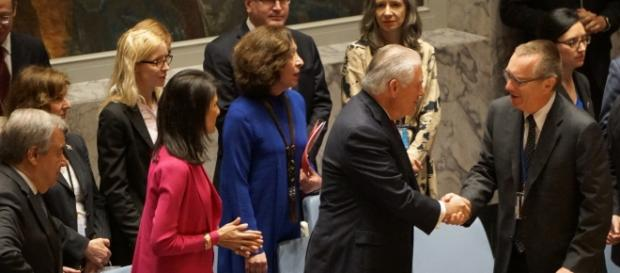 Nikki Haley and Rex Tillerson at the UN Security Council | Wikimedia Commons