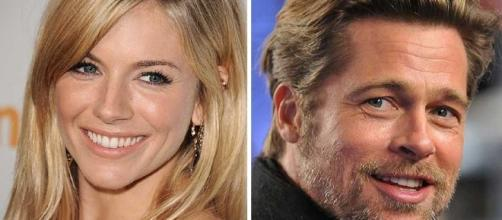 Brad Pitt and Sienna Miller reportedly couldn't stop cuddling at Glastonbury
