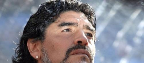 Diego Armando Maradona ex giocatore del Napoli