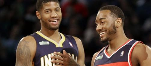John Wall pitches Paul George on joining Wizards, forming super (via youtube - businessinsider)