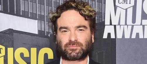 Johnny Galecki gives an encouraging speech to the people of San Luis Obispo.