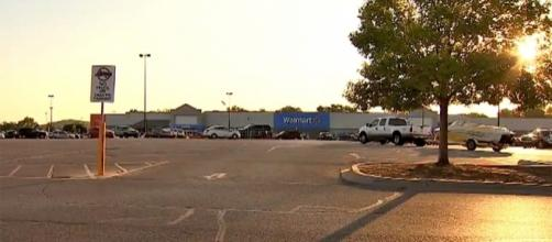 Photo Walmart in Sand Springs, Ok. screen capture from Fox 23 News video