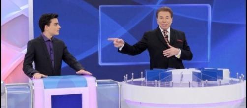 Silvio Santos e seu queridinho, Dudu Camargo (Foto: Captura de vídeo)