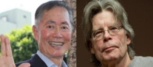 Stephen King and George Takei, via Twitter