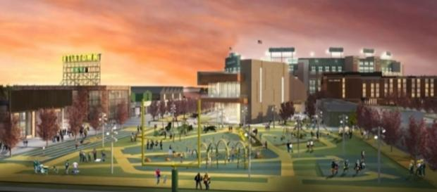 A computer depiction of how they expect parts of Titletown District to look (via Youtube)