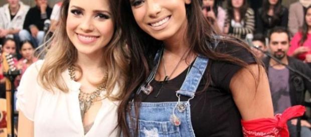 Anitta e Sandy viram assunto na internet (Foto: Reprodução)