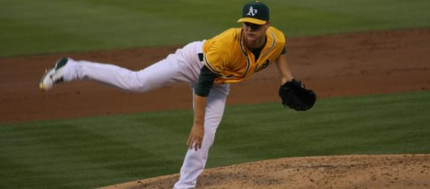 A's pitcher, Sonny Gray-Wikipedia Commons