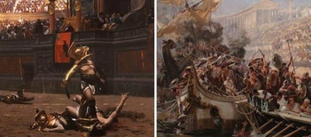 Esportes mortais: de lutas entre gladiadores a batalha naval (com barcos reais!)