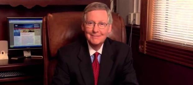 Mitch McConnell postpones vote on Obamacare repeal bill. Photo via Michael Deppisch, YouTube.
