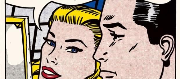 """Roy Lichtenstein's """"Masterpiece"""" (1962). FAIR USE artmarketmonitor.com Creative Commons"""