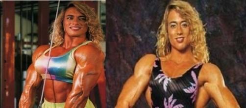 A ex-fisiculturista no auge da fama na década de 90