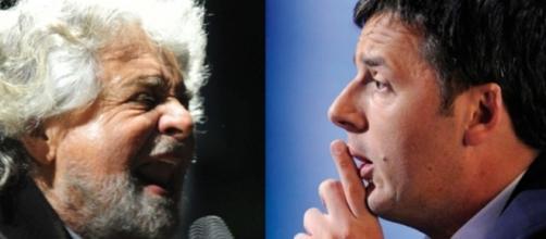 Beppe Grillo accusa Matteo Renzi di essere responsabile dell'invasione di migranti a causa di Triton