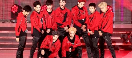 Boy band EXO, one of SM Entertainment's talents