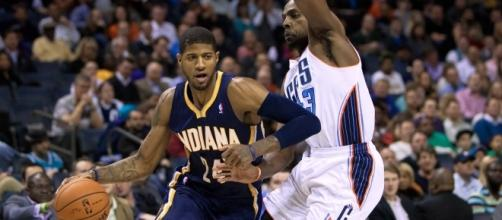 Could Paul George or Carmelo Anthony be the next stars heading to Houston? [Image via Wiki Commons]