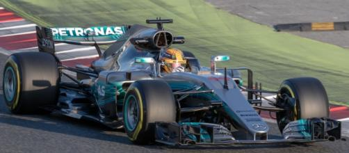 Lewis Hamilton in his Mercedes. Picture by Morio, Creative Commons.