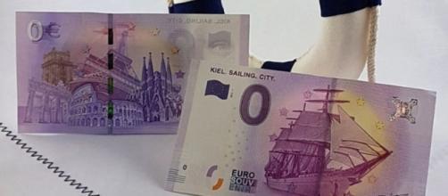 Un'immagine della banconota da 0 euro
