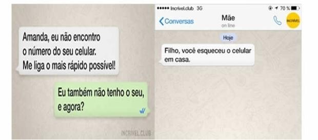 Conversas inusitadas pelo WhatsApp